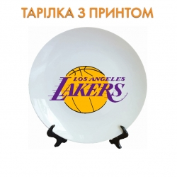 Тарелок Lakers logo