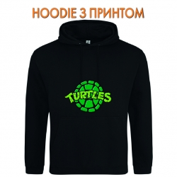 Худи с принтом Teenage Mutant Ninja Turtles Logo черный