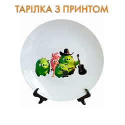 Тарелки Angry Birds Funny Green Pigs