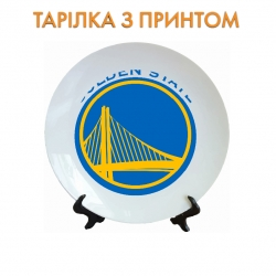 Тарелок Golden State Warriors logo