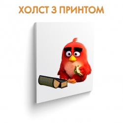 Холст Angry Birds Red Bird With Sandwich