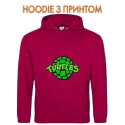 Худи с принтом Teenage Mutant Ninja Turtles Logo красный