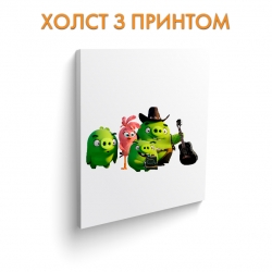 Холст Angry Birds Funny Green Pigs