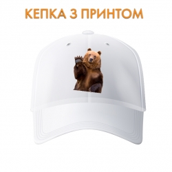 "Кепка Bear says ""hi"""