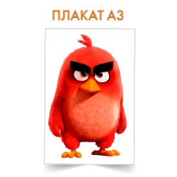 Плакат Angry Birds Red Bird