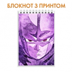 Блокнот Dragon ball Face Hero