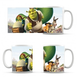 Cup Shrek, Fiona and Donkey