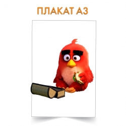 Плакат Angry Birds Red Bird With Sandwich
