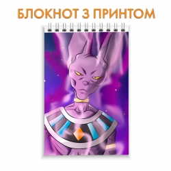 Блокнот Dragon ball Violet Monstercat