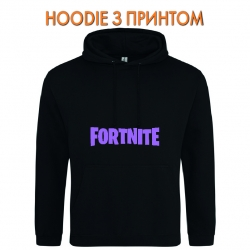 Худи с принтом Fortnite Logo черный