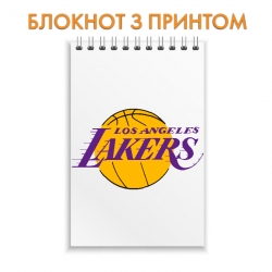 Блокнот Lakers logo