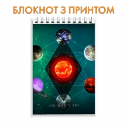 Блокнот No Mans Sky Galaxy
