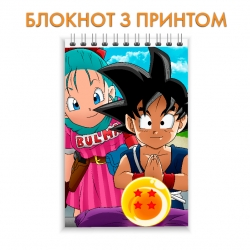 Блокнот Dragon ball Cute Heroes