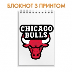 Блокнот Chicago Bulls logo