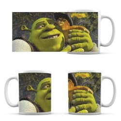 Shrek and cat cup