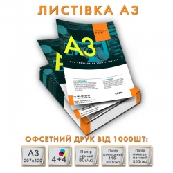 Offset printing Flyer A3