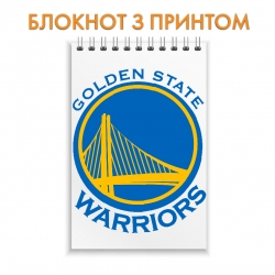 Блокнот Golden State Warriors logo