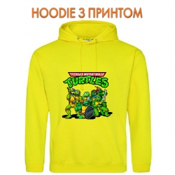 Худи с принтом Teenage Mutant Ninja Turtles Heroes желтый