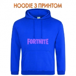 Худи с принтом Fortnite Logo голубой