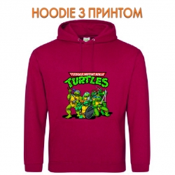 Худи с принтом Teenage Mutant Ninja Turtles Heroes красный