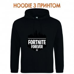 Худи с принтом Fortnite Forever Logo черный