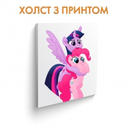 Холст My Little Pony Twilight Sparkle With Pinkie Pie