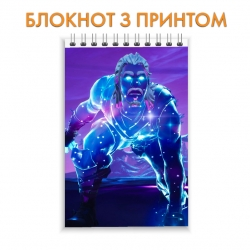 Блокнот Fortnite Hero Print