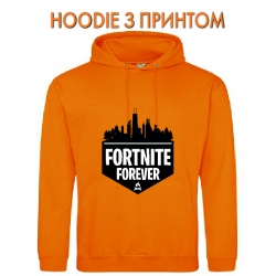 Худи с принтом Fortnite Forever Logo оранжевый
