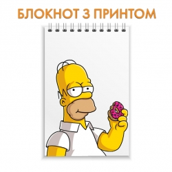 Блокнот The Simpsons Homer With Donut