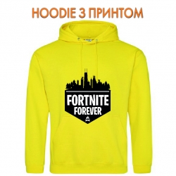 Худи с принтом Fortnite Forever Logo желтый
