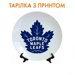 Тарелок Toronto Maple Leafs logo