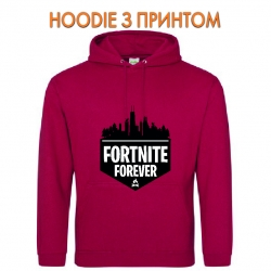 Худи с принтом Fortnite Forever Logo красный
