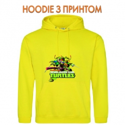 Худи с принтом Teenage Mutant Ninja Turtles Main Heroes желтый