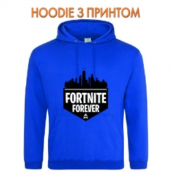 Худи с принтом Fortnite Forever Logo голубой