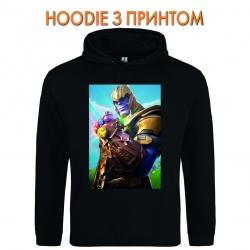 Худи с принтом Fortnite Thanos черный