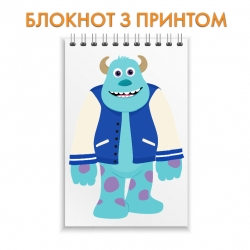 Блокнот Monsters Inc James P Sullivan Art