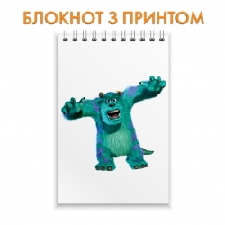 Блокнот Monsters Inc James P. Sullivan Angry