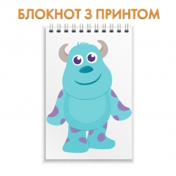 Блокнот Monsters Inc James P. Sullivan Cute