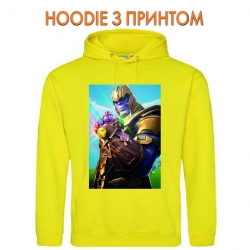 Худи с принтом Fortnite Thanos желтый
