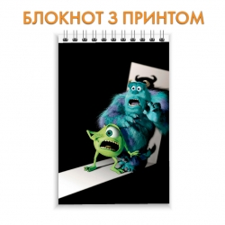 Блокнот Monsters Inc Scary Heroes
