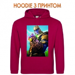 Худи с принтом Fortnite Thanos красный