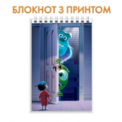 Блокнот Monsters Inc Door