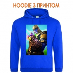 Худи с принтом Fortnite Thanos голубой
