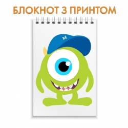 Блокнот Monsters Inc Mike Wazowski Art