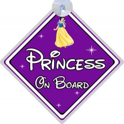 "Знак ""Princess on board"" на присоске"