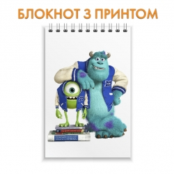 Блокнот Monsters Inc Friends