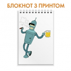 Блокнот Futurama Bender With Beer