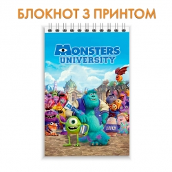 Блокнот Monsters Inc All Heroes