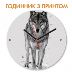 Часы Black and white wolf