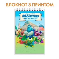 Блокнот Monsters Inc Main Heroes